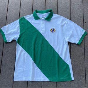 Vtg 90's Lions International Polo Shirt Retro XL